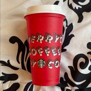 "Starbucks ""Merry coffee"" cup"
